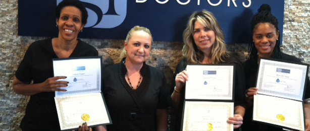 Dr. Juliette Fagan, Andrea Pressas and Marcella Sapp, GPACT Certified Clinical Colon Hydro-Therapists in the ColoLAVAGE with Amy Sanders Instructor and co-founders of the ColoLAVAGE