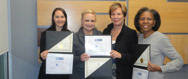 Kelsey Marshall, Sue Twiggs and Immacula Oligario, GPACT Certified Clinical Colon Hydro-Therapists in the ColoLAVAGE with Amy Sanders Instructor and co-founders of the ColoLAVAGE